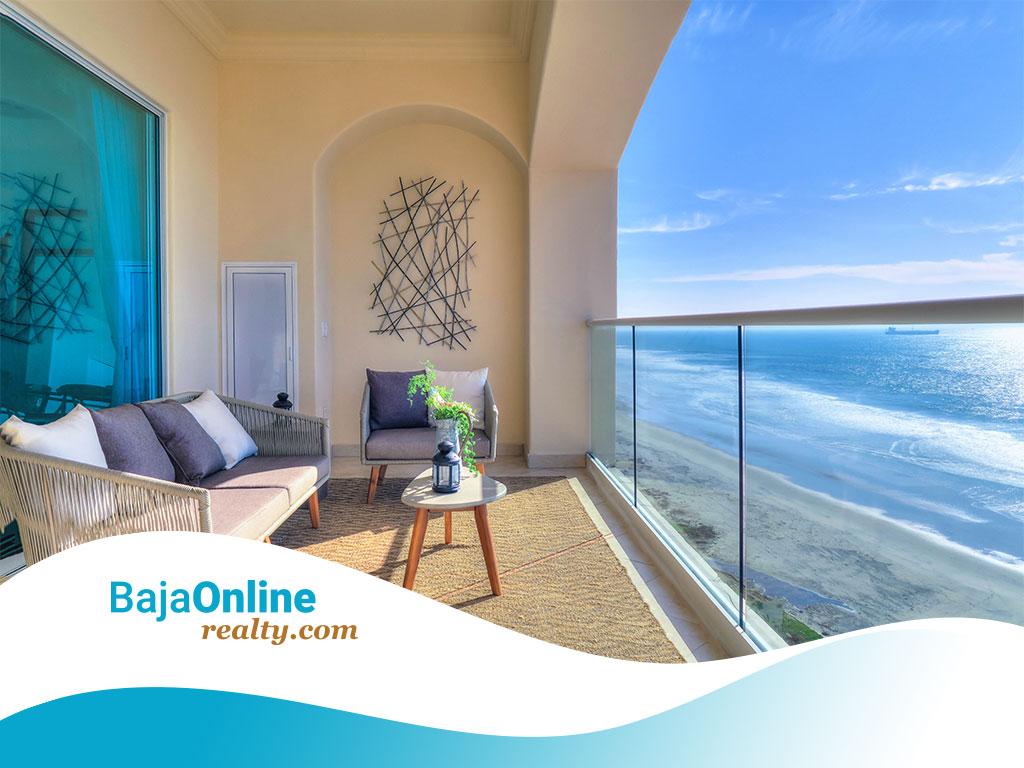Ocean View Condo For Sale in Las Olas Mar y Sol, Playas de Rosarito - USD $210,000