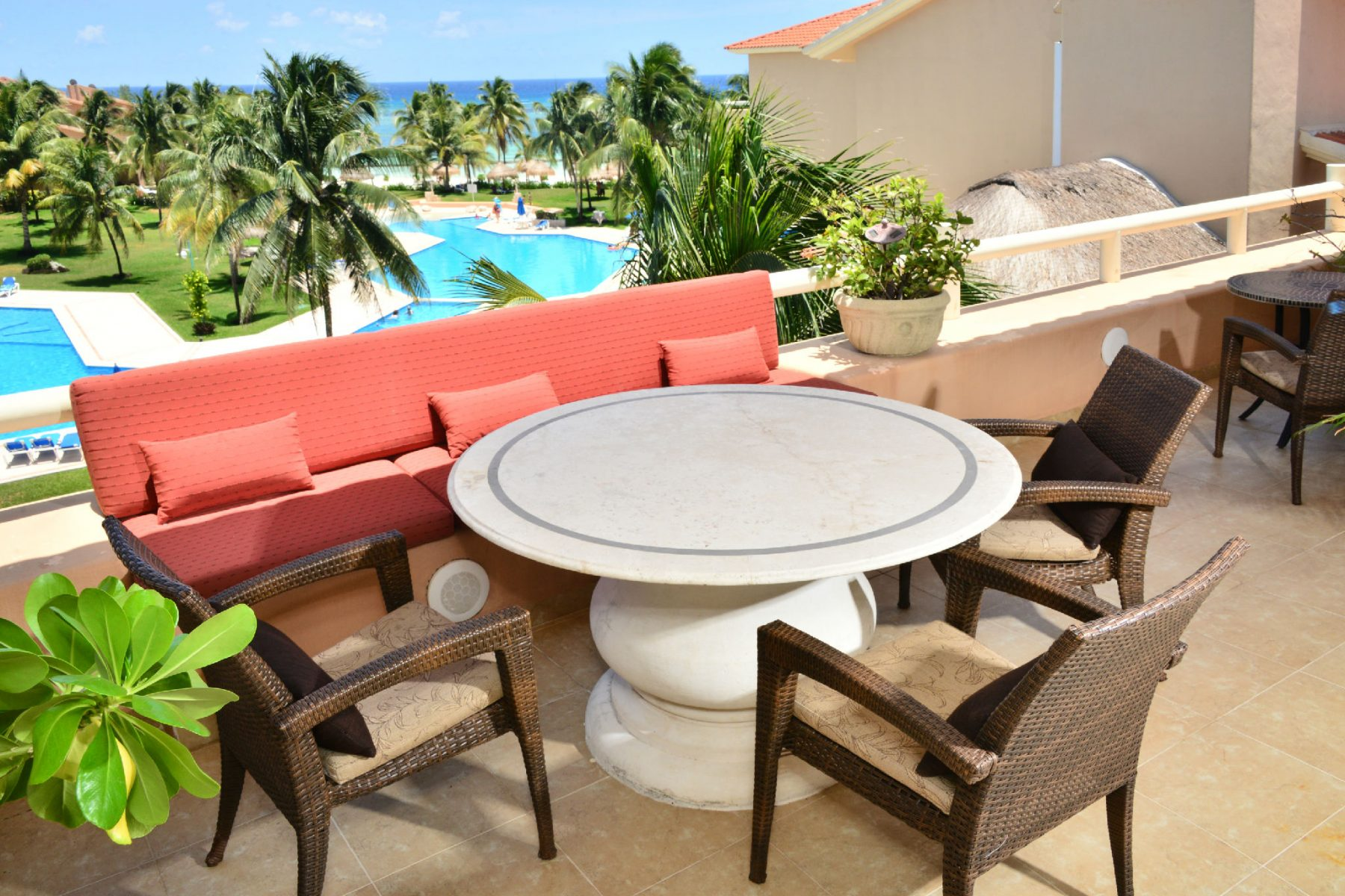 TERRACE OF penthouse in VILLAS DEL MAR E408 IN PUERTO AVENTURAS