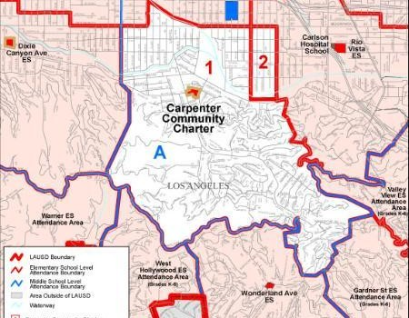 Carpenter Community Charter School Boundary Map